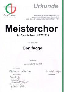 Meisterchor Urkunde